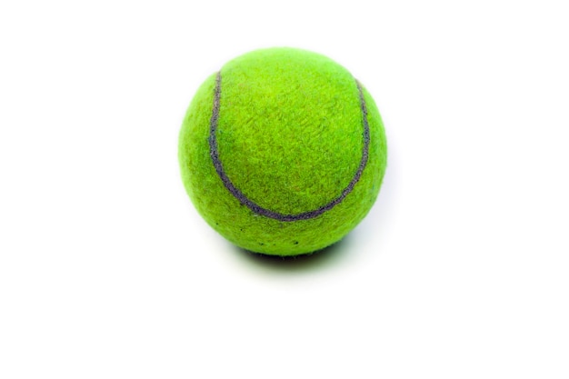 Tennisbal op het witte oppervlak.