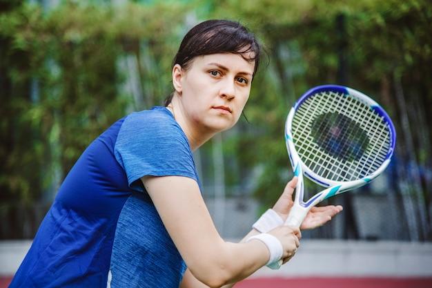 Tennisspeler klaar voor een match