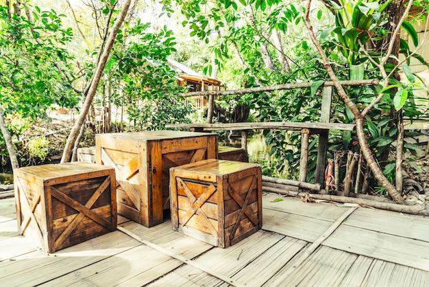 Terrasstoel en tafel Premium Foto