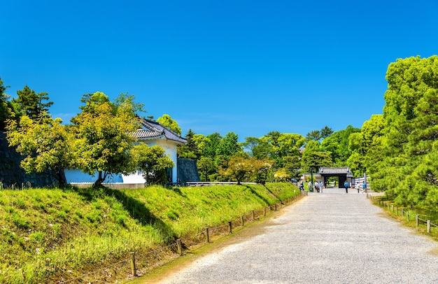 Terrein van nijo castle in kyoto, japan