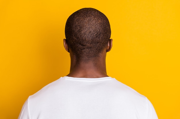 Terug achterste ruggengraat weergave afro-amerikaanse man