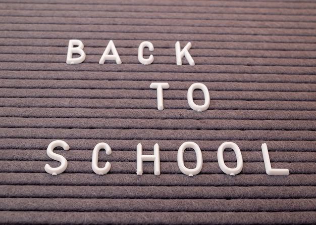 Terug naar school bericht op blackboard