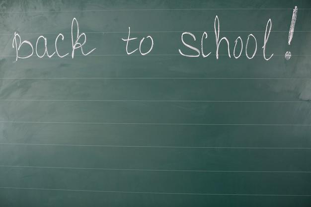 Terug naar school woorden op schoolbord