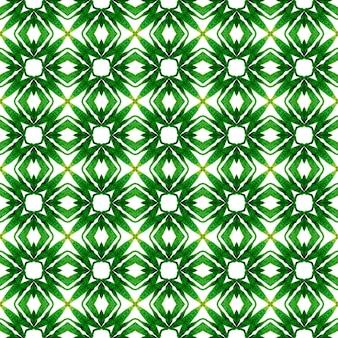 Textiel klaar optimale print, badmode stof, behang, inwikkeling. groen geweldig boho chic zomerontwerp. trendy biologische groene rand. biologische tegel.