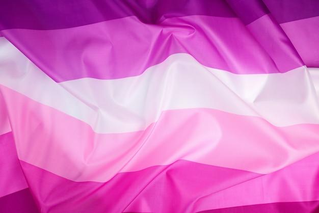 Textiel roze vlag van lesbiennesachtergrond