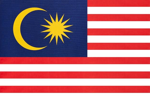 Textiel van de de stoffenvlag van maleisië het nationale