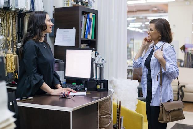 Textielwinkel voor kleine bedrijven.