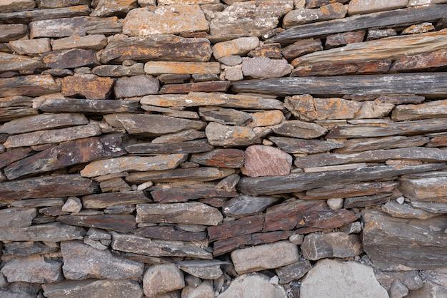 Textur von steinen unterschiedlicher gr e, die aufeinander liegen. platz fr tekst