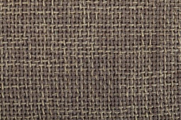 Textuur bruin canvas stof, zak textuur