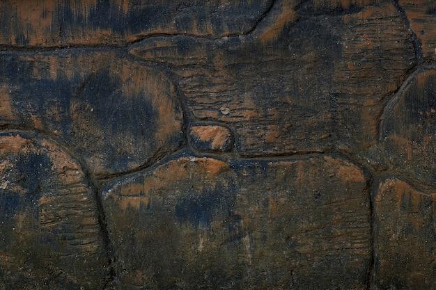 Textuur gebarsten zwarte rots achtergrond