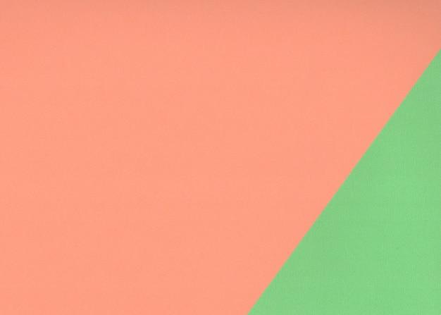 Textuur groen en oranje papier voor achtergrond.