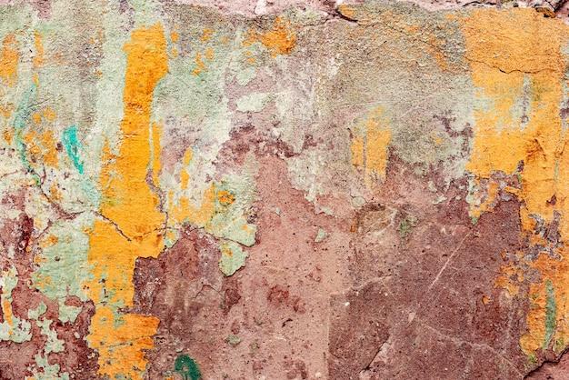 Textuur, muur, beton, het kan worden gebruikt als achtergrond. muurfragment met krassen en scheuren