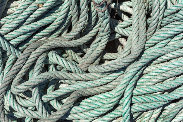 Textuur of achtergrond van een zeemanskabel.