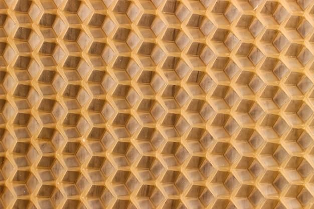 Textuur of achtergrondhoningraat voor bijen