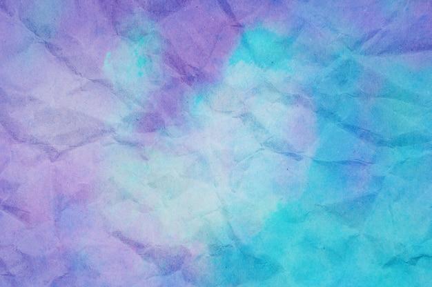 Textuur van blauw en violet verfrommeld papier Premium Foto