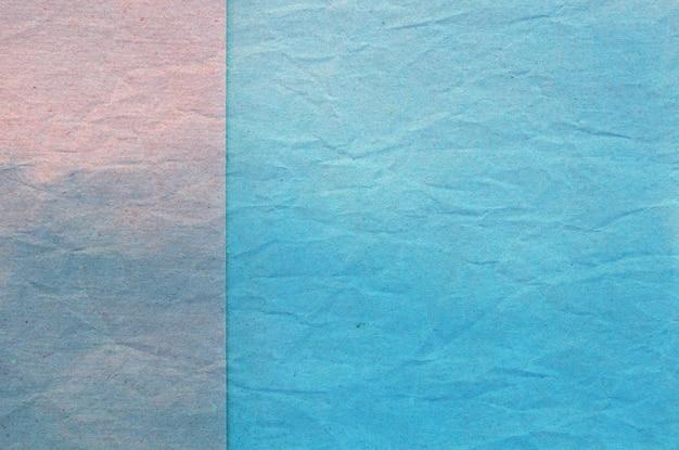 Textuur van blauw verfrommeld papier