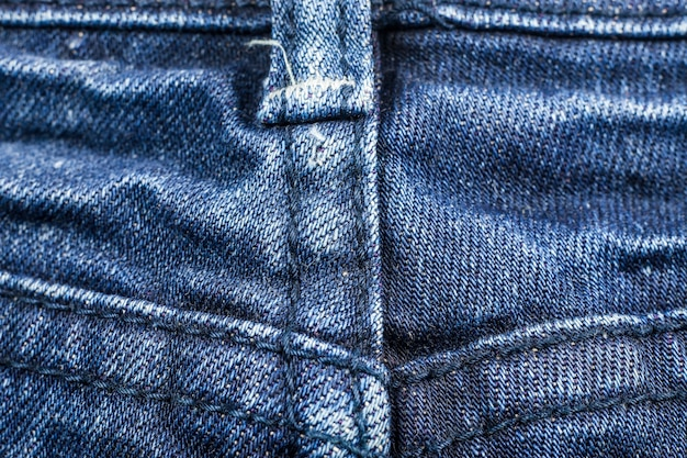 Textuur van blauwe spijkerbroek