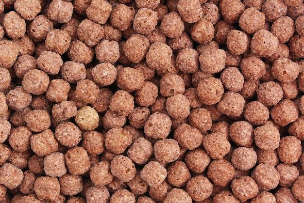 Textuur van chocoladecornflakes