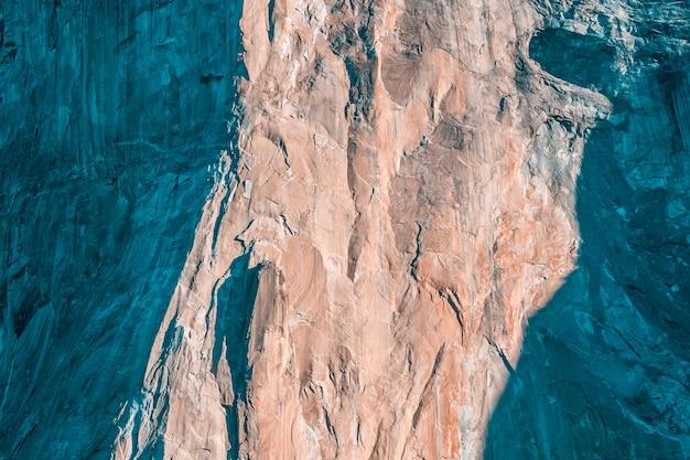 Textuur van de berg gran capitan in yosemite, californië