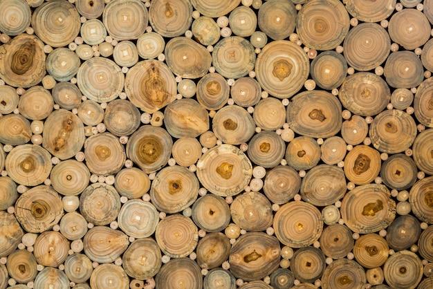 Textuur van de logs met verschillende maten