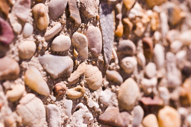 Textuur van dichte omhooggaande stenen
