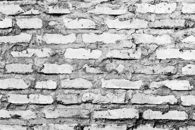 Textuur van een bakstenen muur met scheuren en krassen die als achtergrond kunnen worden gebruikt