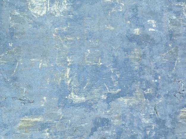 Textuur van een blauwe oude sjofele houten achtergrond.