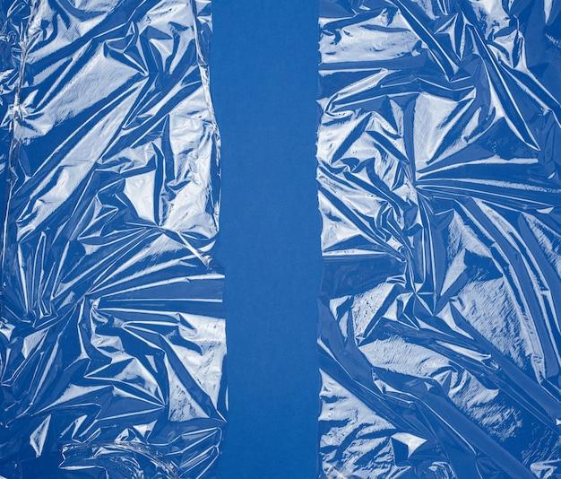 Textuur van een doorzichtige plastic rekfolie voor het verpakken van producten