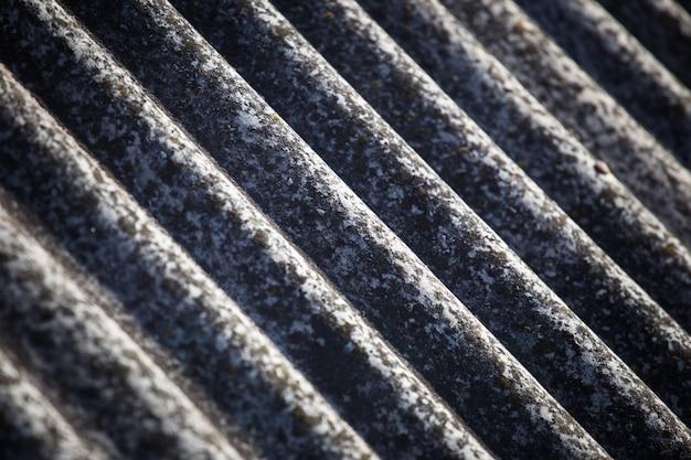 Textuur van een leisteen op een oud dak