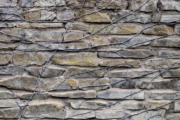 Textuur van een stenen muur. een deel van een stenen muur, voor achtergrond of textuur.