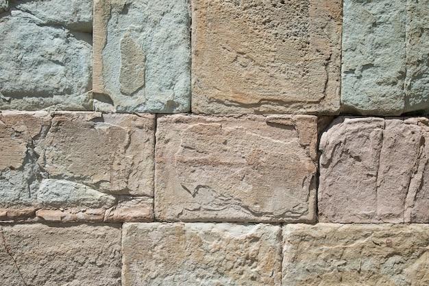 Textuur van een stenen muur. oude kasteel stenen muur textuur achtergrond