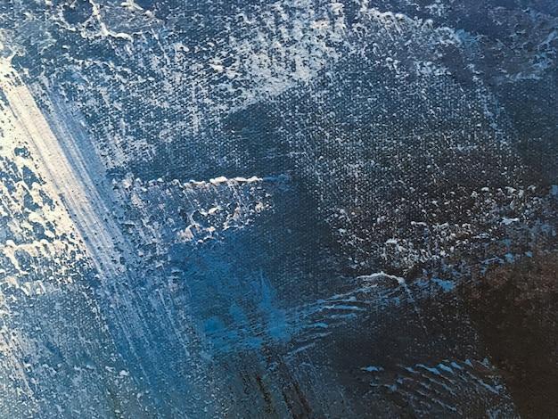 Textuur van het schilderen abstracte kunst lichtblauwe kleur als achtergrond.