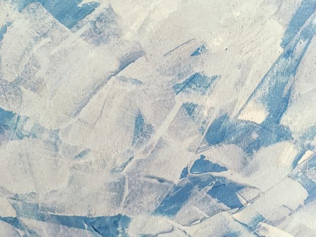 Textuur van het schilderen van abstracte kunst lichtblauwe kleur.
