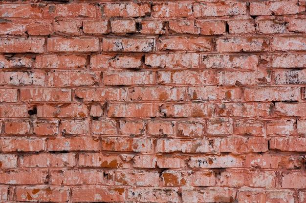 Textuur van metselwerk muur van oude rode baksteen