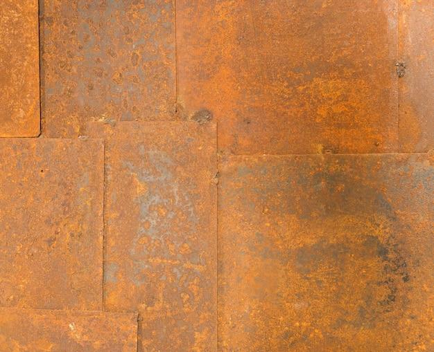 Textuur van oude de lijstachtergrond van het grungeijzer