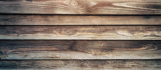Textuur van oude houten planken voor achtergrond.