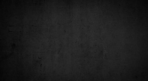 Textuur van oude zwarte betonnen muur voor achtergrond