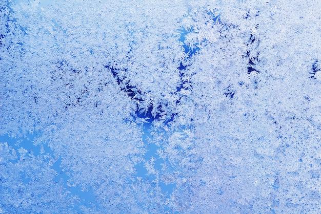Textuur van patronen op bevroren venster