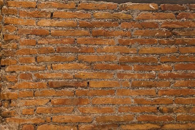 Textuur van ruwe bakstenen muur