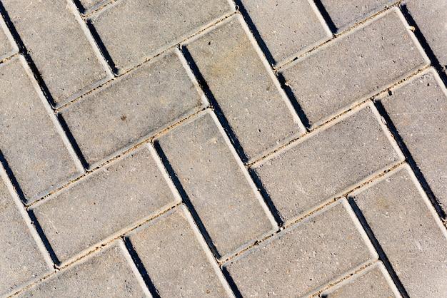 Textuur van straatsteen, close-up.