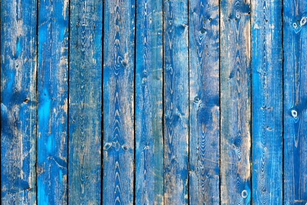 Textuur van uitstekende blauwe en turkooise geschilderde houten achtergrond