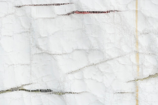 Textuur van wit gerecycled vrachtwagenzeil