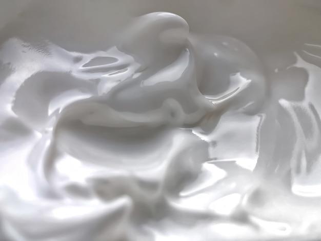 Textuur van witte crème voor care.beauty achtergrond.