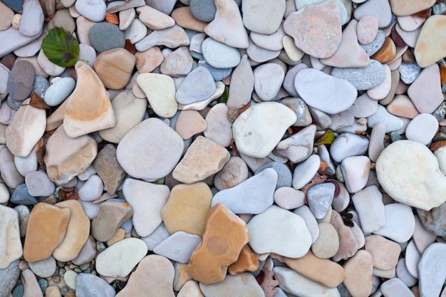 Textuur zeestenen, gladde delicate en lichte tinten, zeestenen