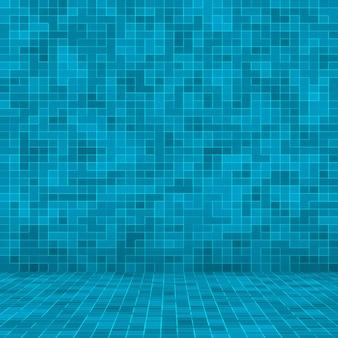Textuur zwembad mozaïek tegel achtergrond.