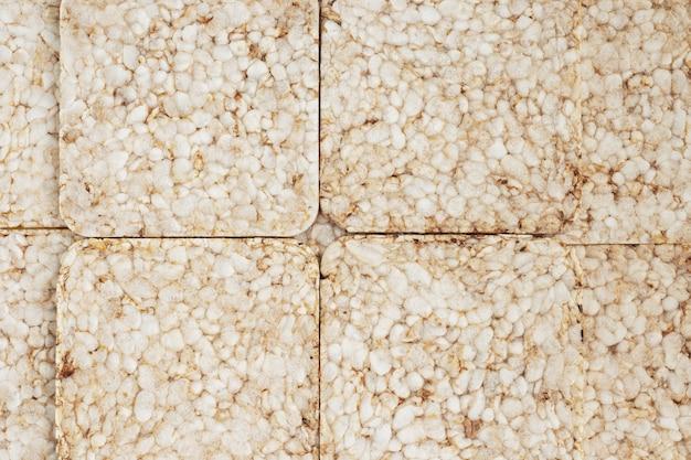 Textuurachtergrond gezonde snack knapperig knäckebröd