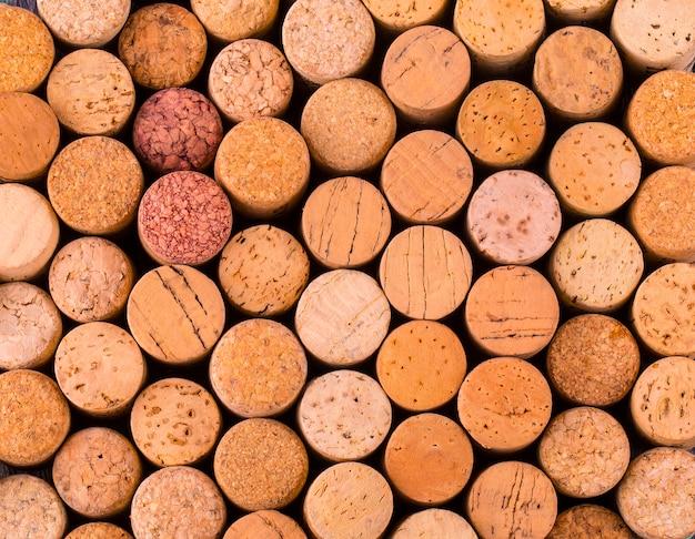Textuurcork van wijnflessen