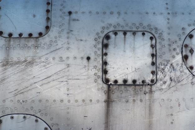Textuurfuselage beschadigde vliegtuigen