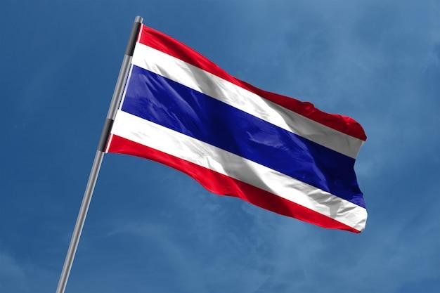 Thailand vlag zwaaien