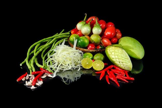Thais salade materiaal (somtum)